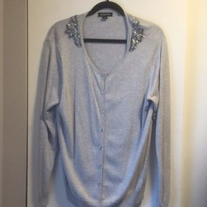 Beaded detail button up cardigan